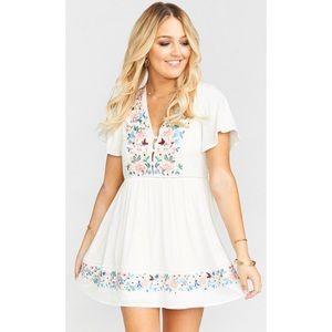 Show me your mumu Betty babydoll mini dress sm